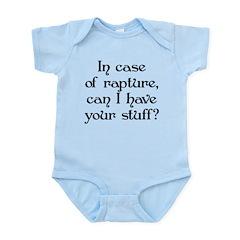 In case of rapture, can I hav Infant Bodysuit