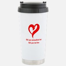 Red Heart Personalized Travel Mug
