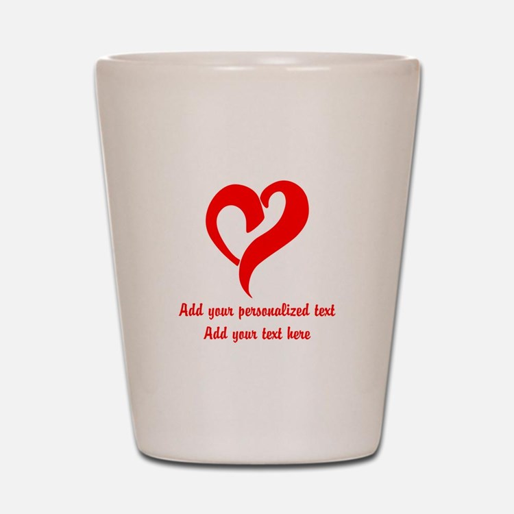 Red Heart Personalized Shot Glass