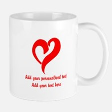 Red Heart Personalized Mugs