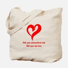 Red Heart Personalized Tote Bag