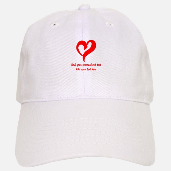 Red Heart Personalized Hat