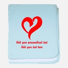 Red Heart Personalized baby blanket