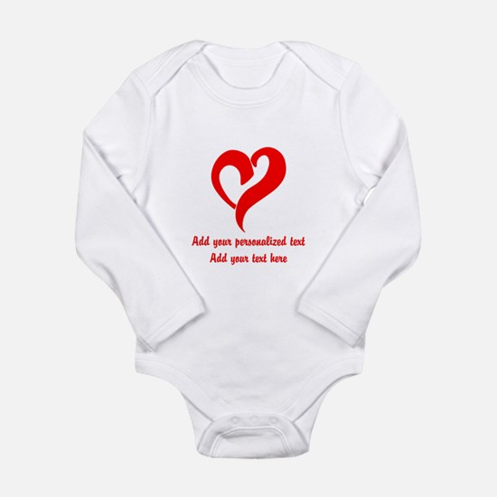 Red Heart Personalized Body Suit