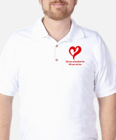 Red Heart Personalized Golf Shirt
