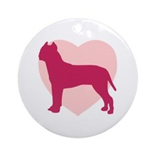 American Staffordshire Terrier Valentine's Day Orn