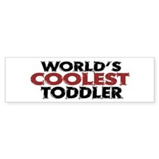 World's Coolest Toddler (Red) Bumper Bumper Sticker