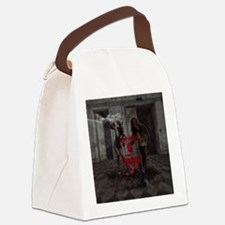 Cute Zombie valentine Canvas Lunch Bag