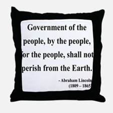 Abraham Lincoln 30 Throw Pillow