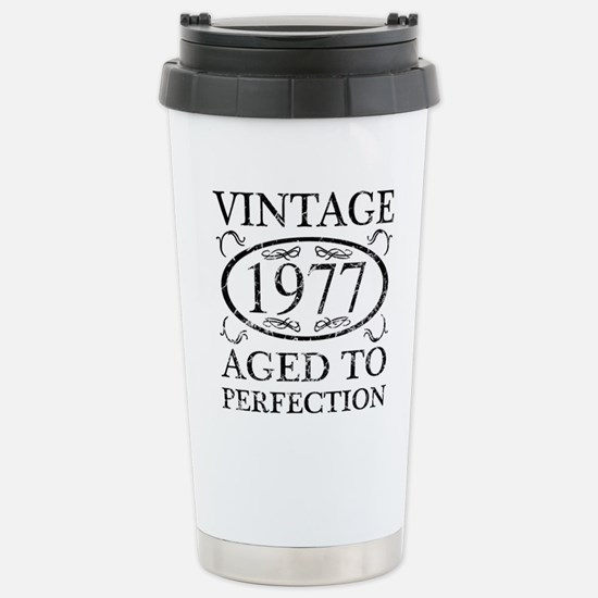 Vintage 1977 Stainless Steel Travel Mug
