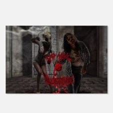 Valentines Day Zombie Cou Postcards (Package of 8)