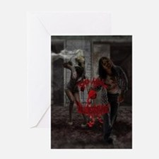 Valentines Day Zombie Couple Greeting Cards