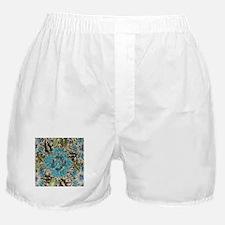 bohemian floral turquoise rhinestone Boxer Shorts
