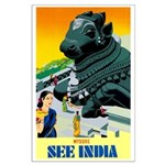 India Travel Advertising Print Poster