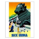 India Travel Advertising Print Small Poster