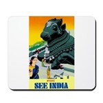 India Travel Advertising Print Mousepad