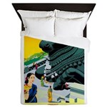 India Travel Advertising Print Queen Duvet