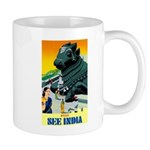 India Travel Advertising Print Mugs