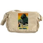 India Travel Advertising Print Messenger Bag
