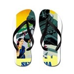 India Travel Advertising Print Flip Flops
