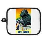 India Travel Advertising Print Potholder