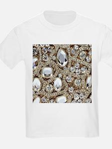 bohemian girly gold rhinestone T-Shirt