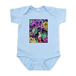Colorful Flower Design Print Body Suit