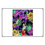 Colorful Flower Design Print Banner