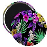 Colorful Flower Design Print Magnets