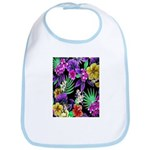Colorful Flower Design Print Baby Bib