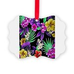 Colorful Flower Design Print Picture Ornament
