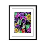 Colorful Flower Design Print Framed Panel Print