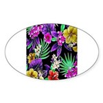 Colorful Flower Design Print Sticker