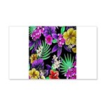 Colorful Flower Design Print Decal Wall Sticker