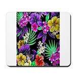 Colorful Flower Design Print Mousepad