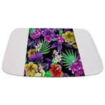 Colorful Flower Design Print Bathmat