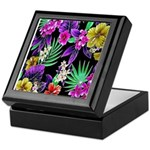Colorful Flower Design Print Keepsake Box