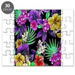 Colorful Flower Design Print Puzzle