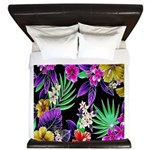 Colorful Flower Design Print King Duvet