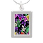 Colorful Flower Design Print Necklaces