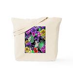 Colorful Flower Design Print Tote Bag