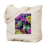 Colorful Flower Design Print Tote Bag