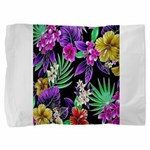 Colorful Flower Design Print Pillow Sham