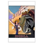 India Vintage Travel Advertising Print Poster