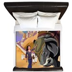 India Vintage Travel Advertising Print King Duvet