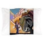 India Vintage Travel Advertising Print Pillow Case