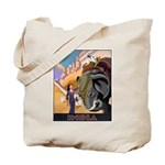 India Vintage Travel Advertising Print Tote Bag