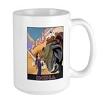 India Vintage Travel Advertising Print Mugs