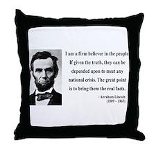 Abraham Lincoln 32 Throw Pillow