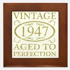 Vintage 1947 Framed Tile